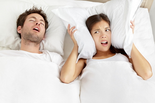 Snoring Man Couple